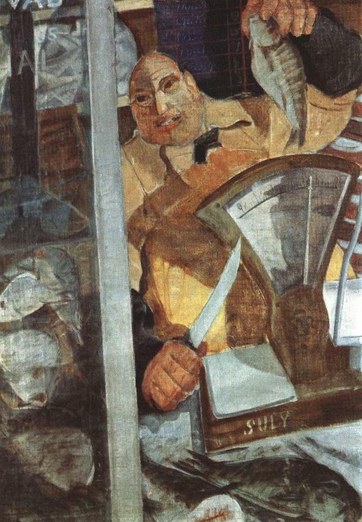 Продавец рыбы, 1930 __ Дьюла Деркович (1894-1834)