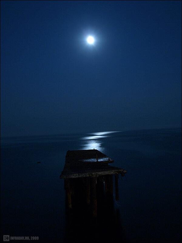 Ночной Крым Симеиз, фотография ночного Симеиза в Крыму