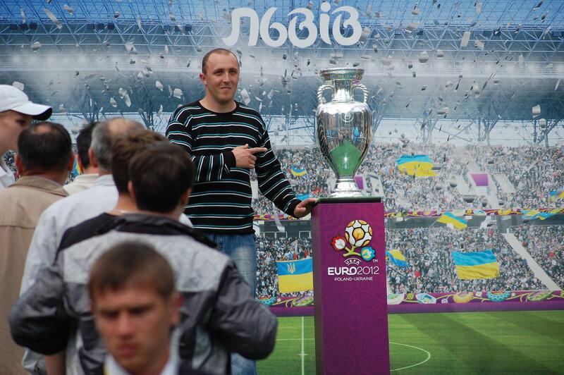 Демонстрация Евро-кубка во Львове