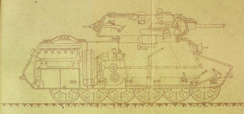 Мототанк МТ-25 чертеж