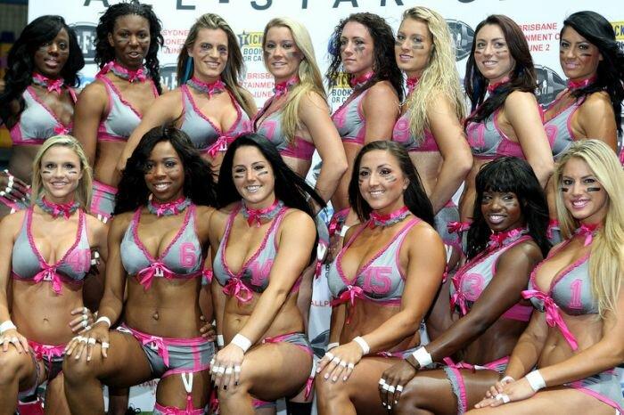 Девушки из американской футбольной лиги