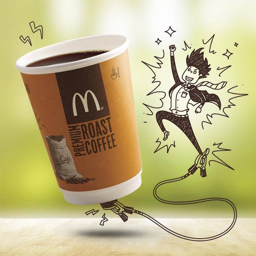 Creative Doodles completed with Mcdonald's Food