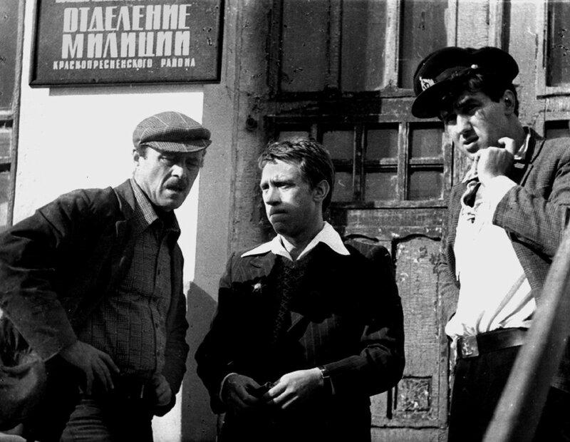 Станислав Говорухин, Владимир Высоцкий, Станислав Садальский на съемках т/ф