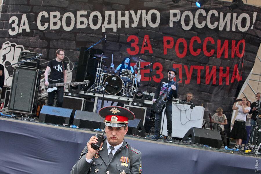 Выступление Глеба Самойлова и The Matrixx на митинге на проспекте Сахарова 12 июня