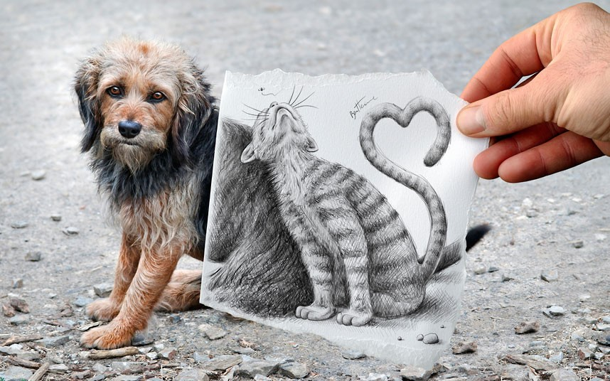 рисунки карандашом необычные: