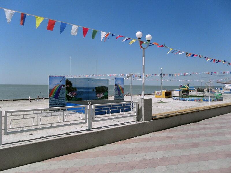 На пляже, июнь 2012