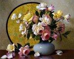 A. D. Greer, букет роз в вазе