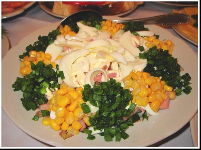 салат с ветчиной фото рецепт