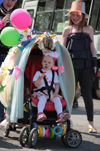 как украсить коляску на парад колясок для девочки своими руками