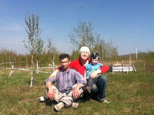 Семья Соловьевых: папа Олег, мама Светлана, Егорка