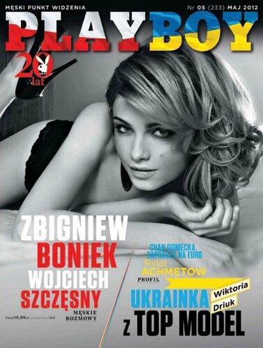 Victoria Driuk / украинка Виктория Дрюк на обложке Playboy Польша, май 2012