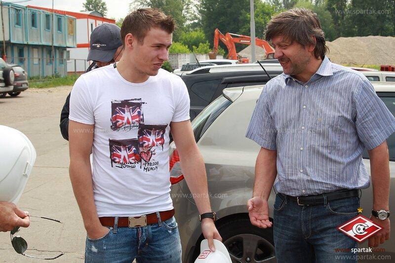 Паршивлюк и Назаров на стадионе «Спартак» (Фото)