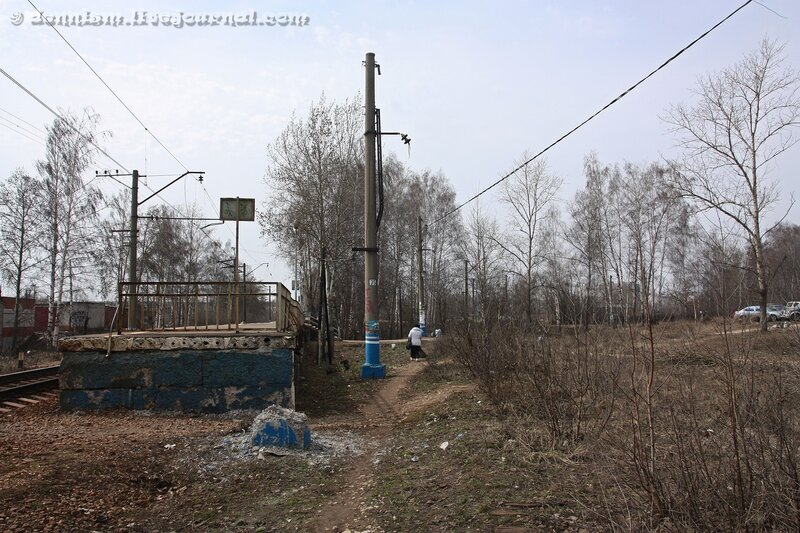 Разобранная железнодорожная линия Детская - Ивантеевка-грузовая.