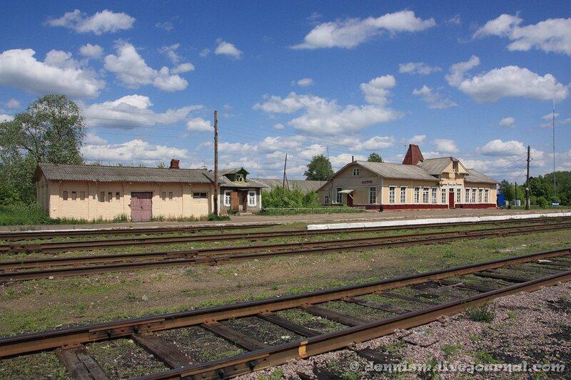 Станция Калязин. Вокзал и станционные постройки.