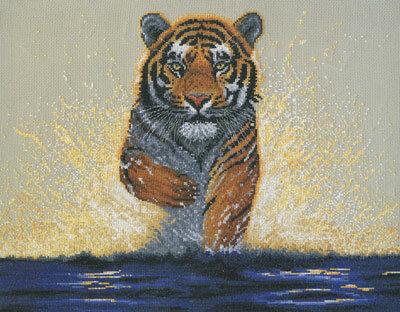 Тигры.  Схемы для вышивки.