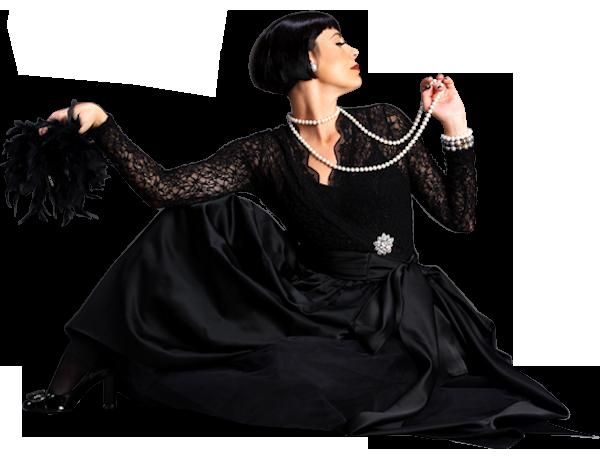 """Леди в черном, стильные девушки в черных платьях, на шпильках, с прической, в перчатках - клипарт для женского фотомонтажа """" Вып"""