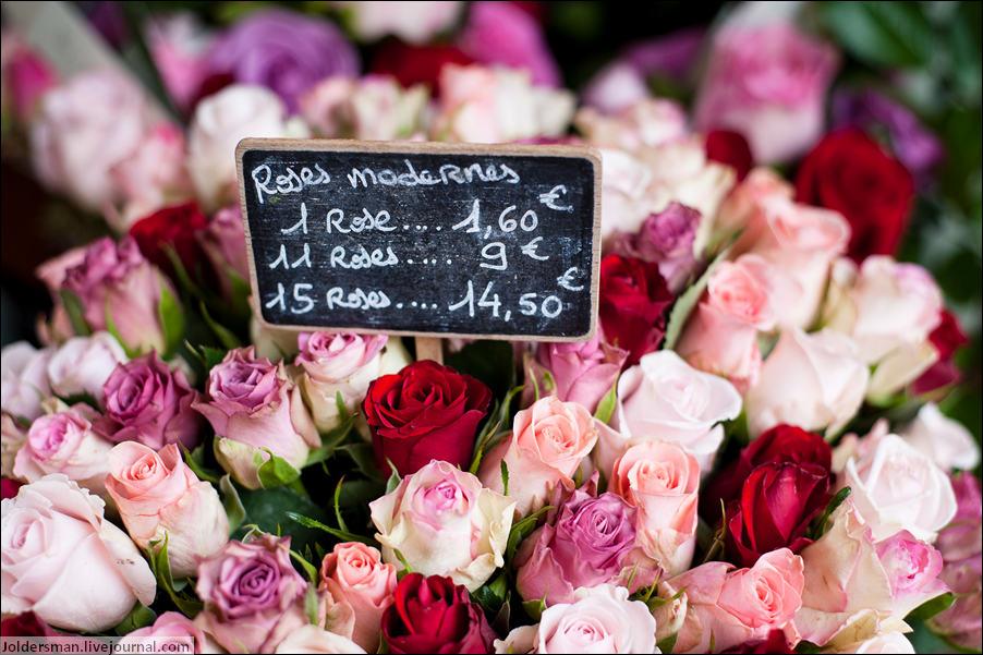 Магазин цветов в Париже