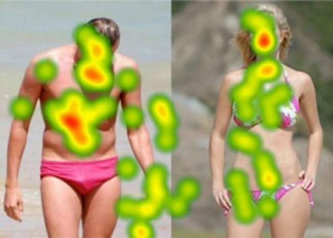Куда смотрять мужчины и женщины во время рекламы