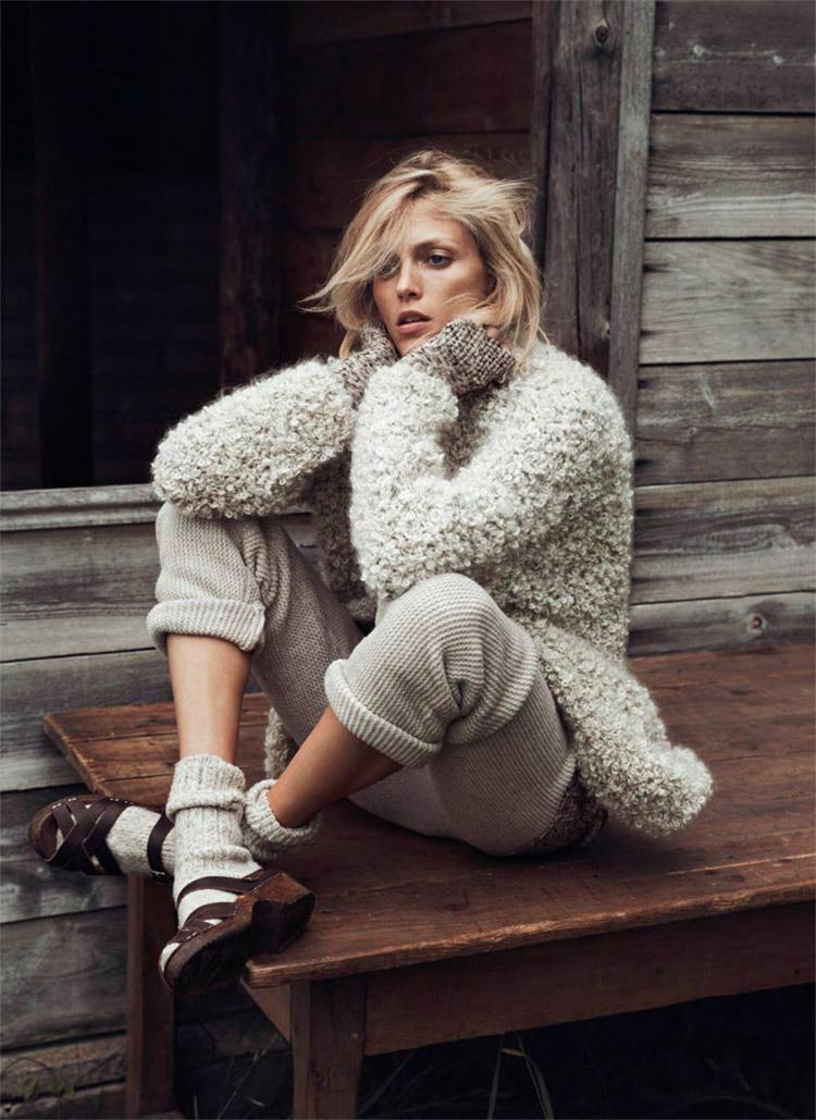 Аня Рубик (Anja Rubik) в журнале Vogue Paris