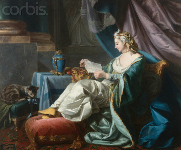 <A Young Sultan Reading a Letter> by Louis-Michel van Loo