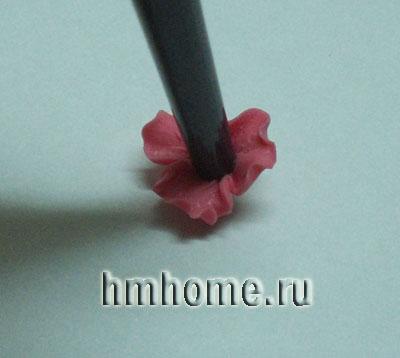 Мастер-класс. Серьги с простыми орхидеями из полимерной глины