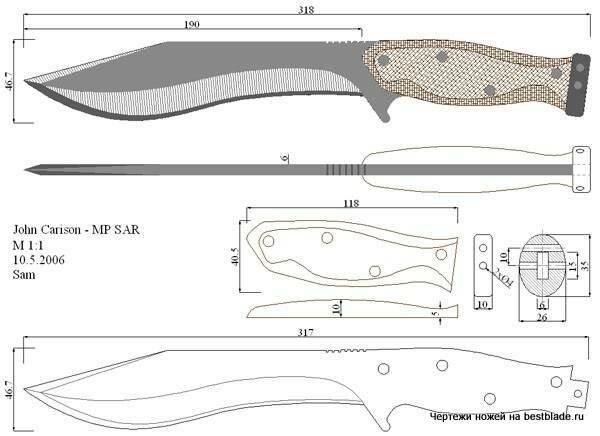 Автор лучшего чертежа с описанием ножа (по мнению форумчан) получит его бесплатно в качестве подарка за идею.