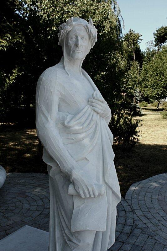Памятник Данте Алигьери киев владимирская горка