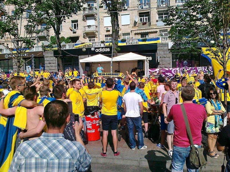 Шведский угол в фан-зоне Евро 2012 на Крещатике