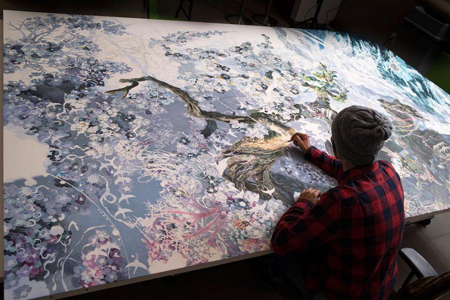 Astonishing Pen & Ink Masterpiece by Manabu Ikeda