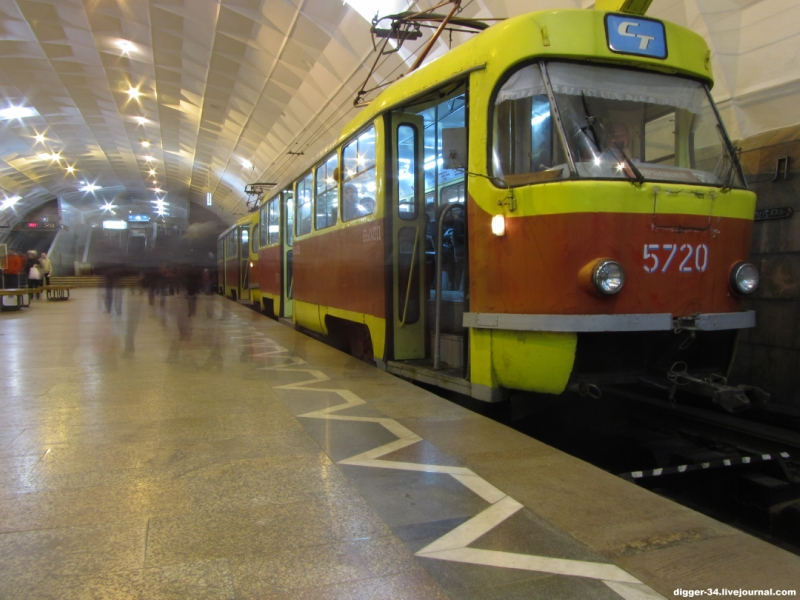 oldest underground tram in Volgograd