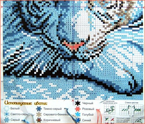 "el-gribk Схема для вышивки  "" Белый тигр  "" 2 белый тигр вышивка вышивка крестом схема для вышивки схема для вышивки..."