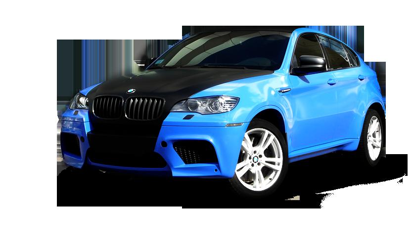 Синий BMW
