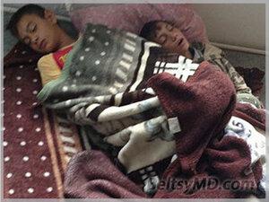 Заболевшие цыганские дети