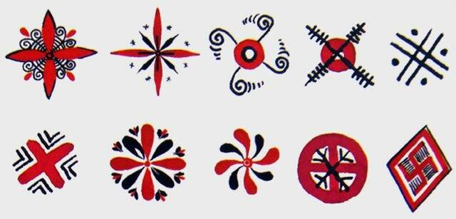 Рисунок с солярными знаками