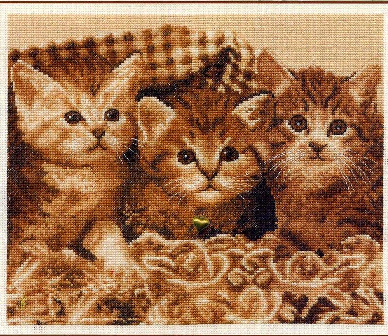 Три котёнка.Схема