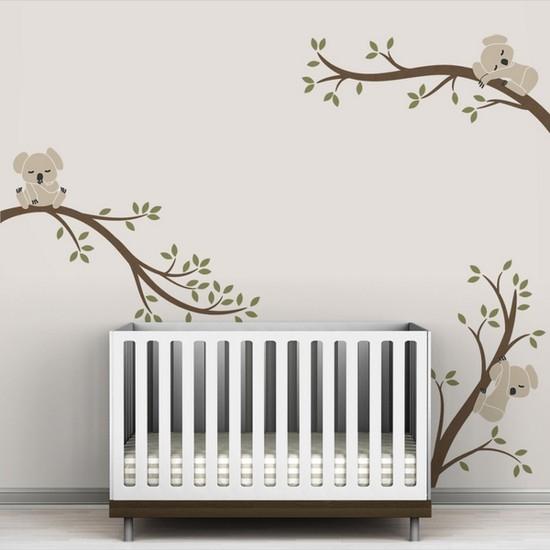 Vinyl wall decals tree branch