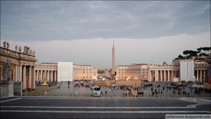 плозадь святого петра Ватикан