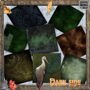 """Скрап-набор """"Темная сторона"""" (Dark side)"""