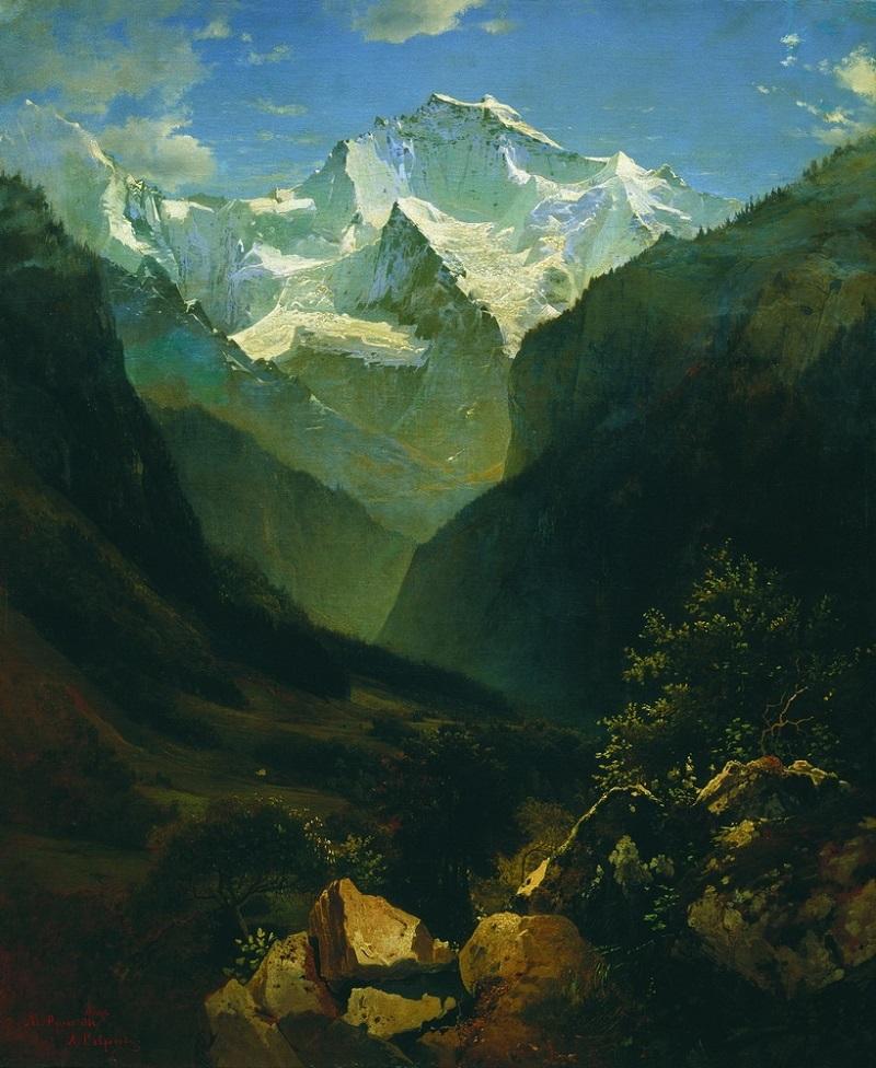 Вид в Швейцарских Альпах (Гора Малый Рухен) 1862 холст масло 76 х 63 см ГРМ.jpg