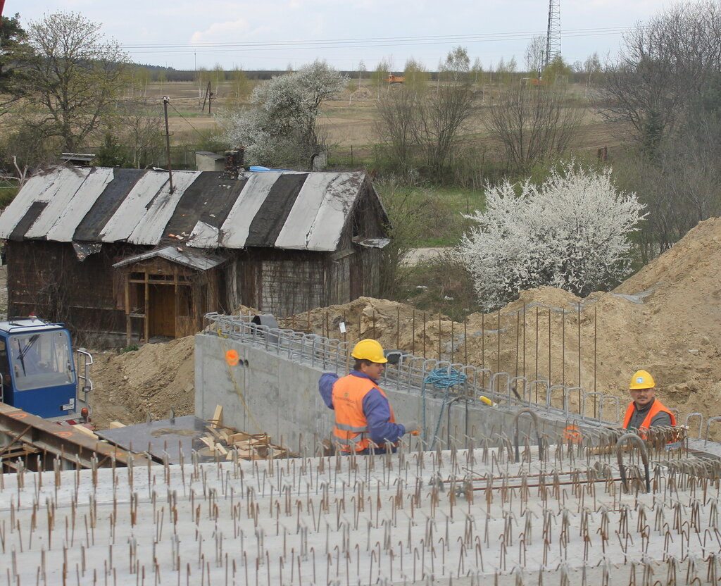 Польша, строительство шоссе Варшава-Вроцлав