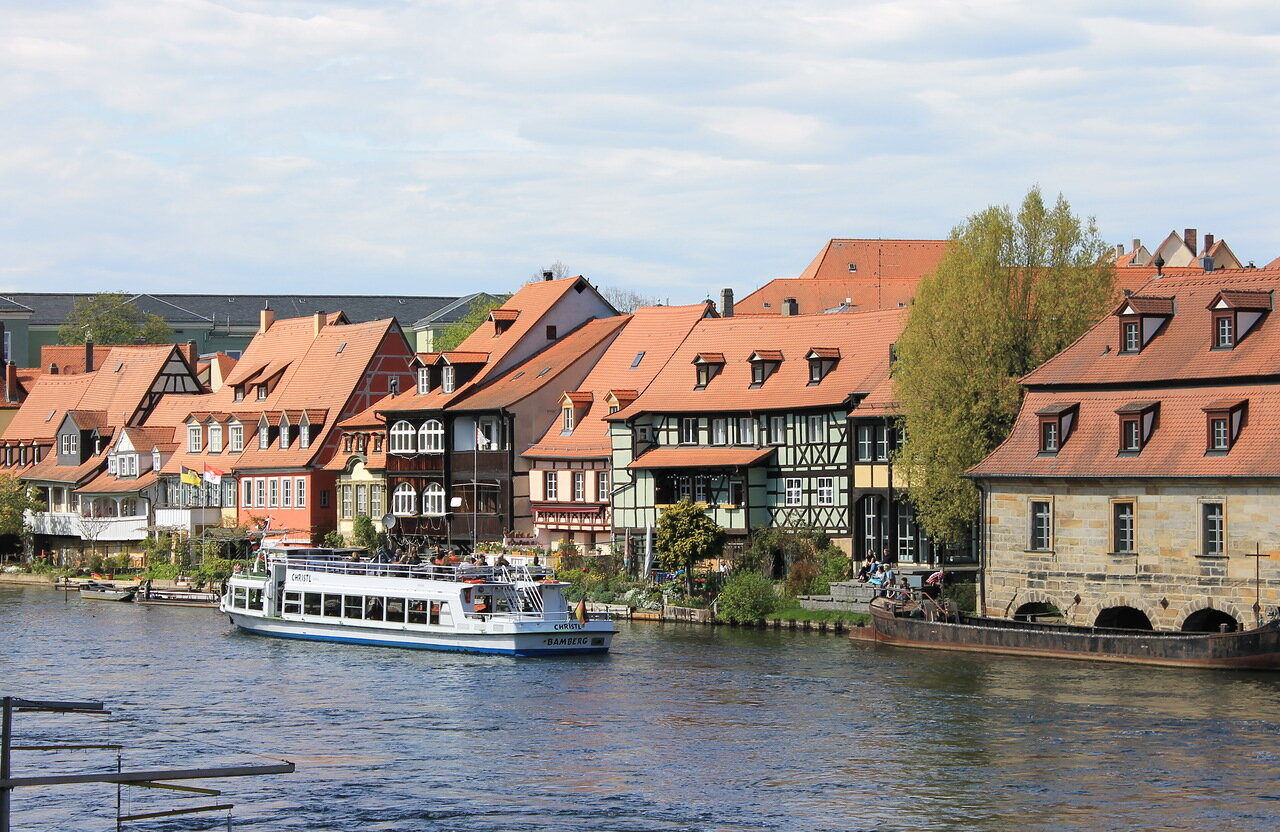 Бамберг. Река Регниц. Маленькая Венеция. Bamberg. Regniz river.