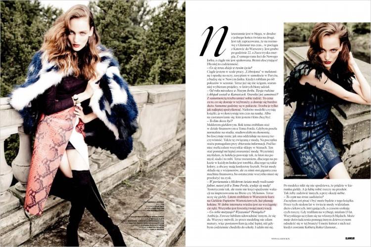 Зузанна Биёх (Zuzanna Bijoch) в журнале Polish Glamour Magazine
