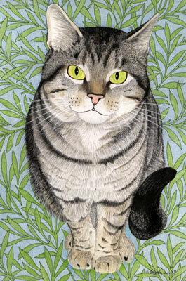 """Схема вышивки  """"Серый кот """" ."""
