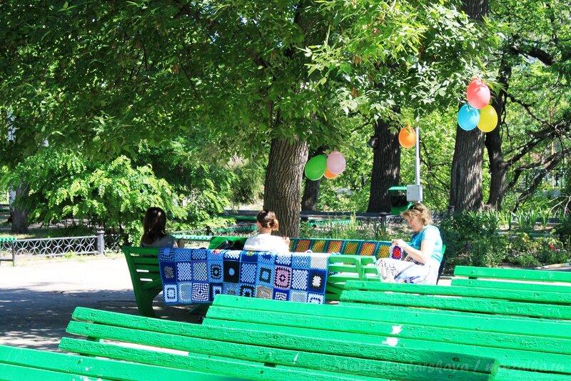 Всемирный день вязания на публике, Саратов, городской парк культуры и отдыха им.Горького, 09 июня 2012 года