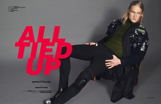 All Tied Up by Rostislav Likachev for MMSCENE Magazine #14 Issue (8 pics)