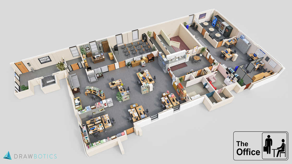 The workplaces of cult series recreated in 3D (7 pics)