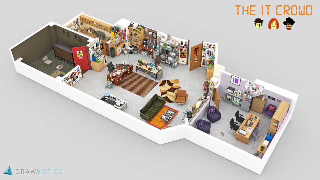 The workplaces of cult series recreated in 3D