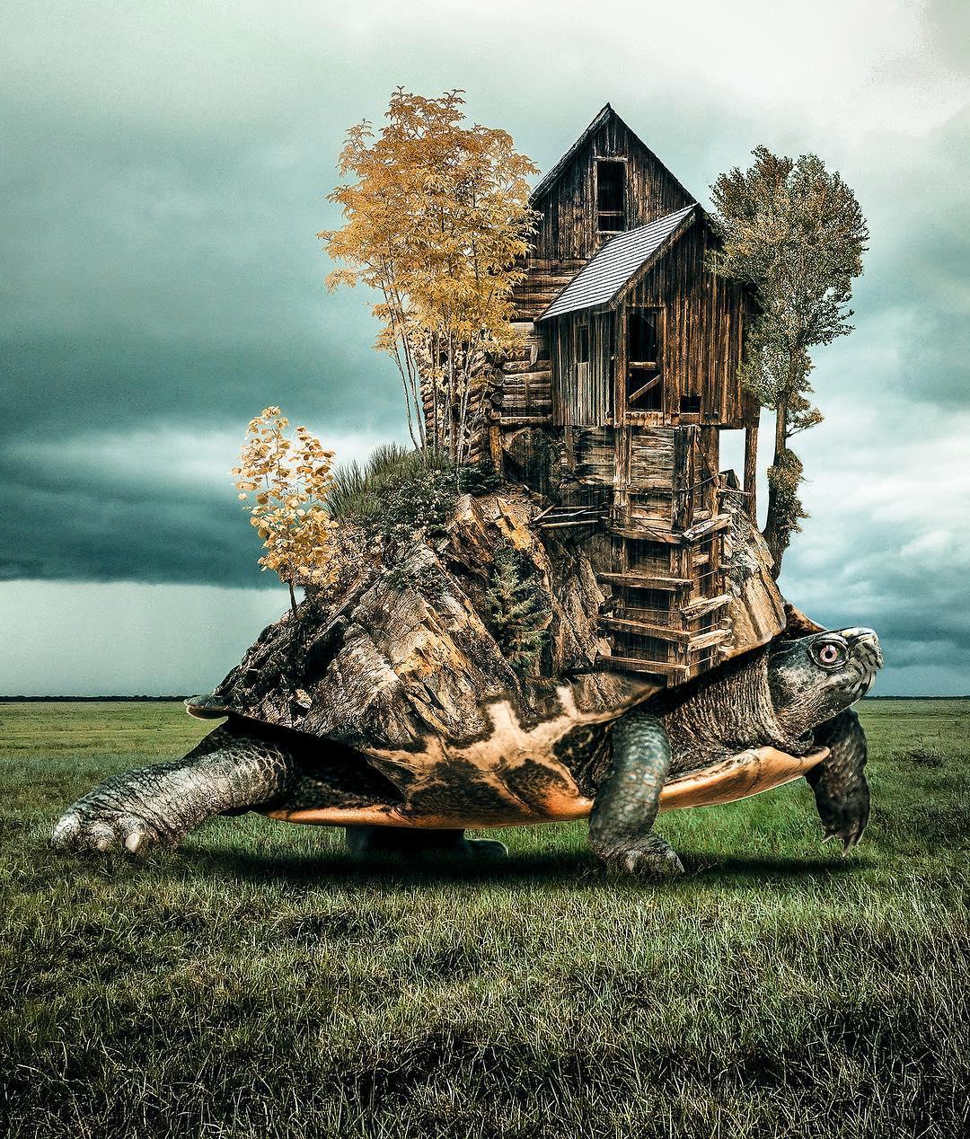 Digital Photo Collages of Dreamlike Scenes by Huseyin Sahin