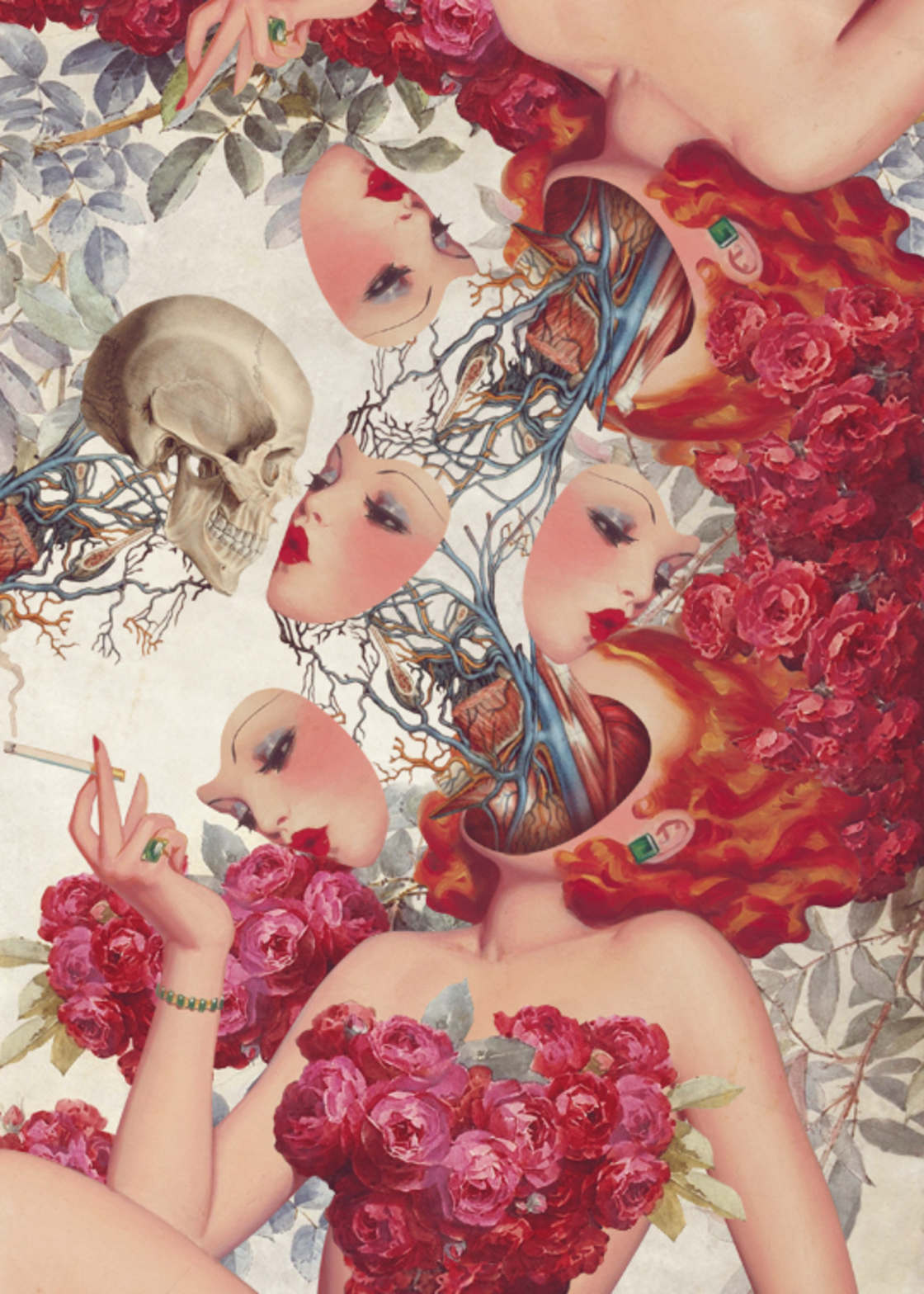 Pin-Up Anatomy - The latest surreal collages by FFO