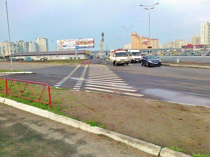 Пешеходный переход и переезд для велосипедистов